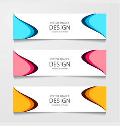 Abstract design banner web template layout header vector