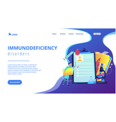 Aids concept landing page vector