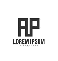 ap logo template design initial letter logo design vector image