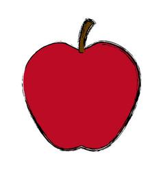 Apple fruit fresh tasty harvest vector