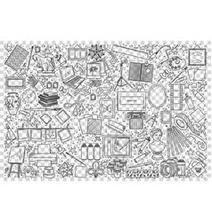 art doodle set vector image