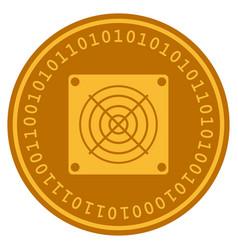 asic miner digital coin vector image