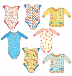 Baby clothes set vector