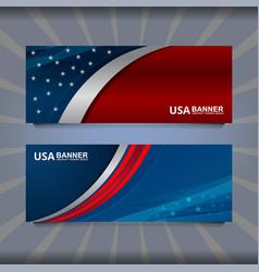 Banner flag of america vector