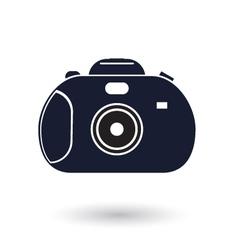 Black and white camera icon vector