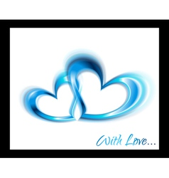 Blue hearts design vector image