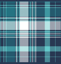 blue pixel check tartan seamless fabric texture vector image
