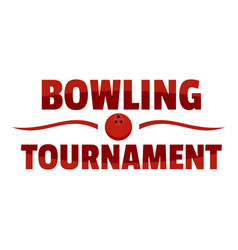 Bowling tournament logo flat style vector