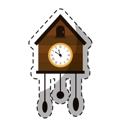 brown cuckoo clock icon image vector image