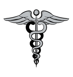 caduceus medical symbol icon cartoon vector image
