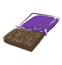 chocolate bar on white background vector image