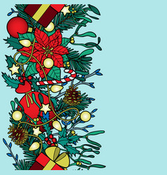 Christmas colorful seamless border vector