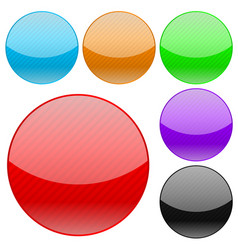 collection of round glass buttons vector image