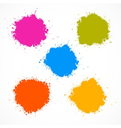 Colorful Stains Blots Splashes Set vector