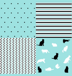 creative seamless patterns and prints set vector image
