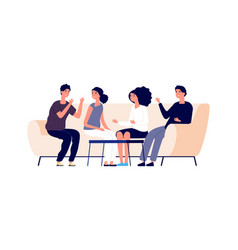 discussion concept flat young businesspeople vector image