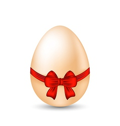 Easter celebration egg wrapping red bow vector