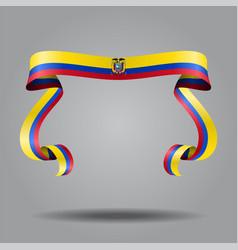 ecuadorian flag wavy ribbon background vector image