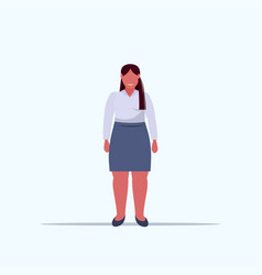 fat overweight woman standing pose unhealthy vector image