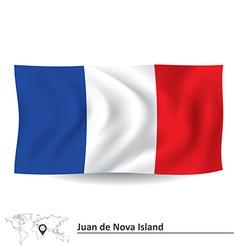 Flag of Juan de Nova Island vector