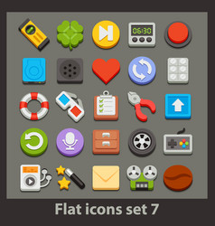 Flat icon-set 7 vector