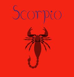 Flat on background scorpio vector