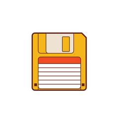 floppy disk 35 vintage diskette classic vector image