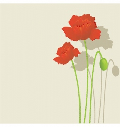 Flower print vector
