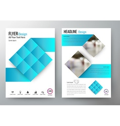Flyer design Layout Template Brochure For annual vector image