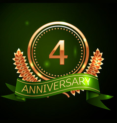 four years anniversary celebration design vector image