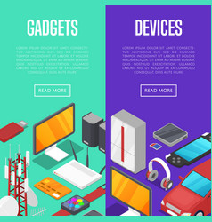 gadgets and computer devices set vector image