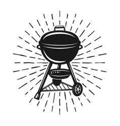 Grill with rays monochrome vector