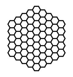 Hexagon pattern field black outline vector