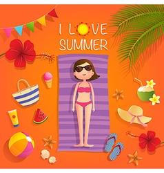 I love summer vector