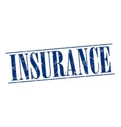 Insurance blue grunge vintage stamp vector