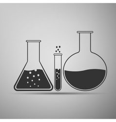 Laboratory glassware icon vector