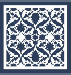 laser cut floral arabesque ornament pattern vector image
