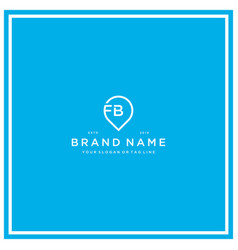 Letter fb pin logo design vector