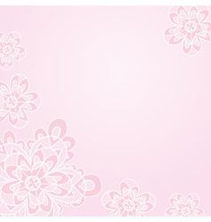 Light pink floral card template vector