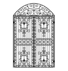 menal arched gate vector image