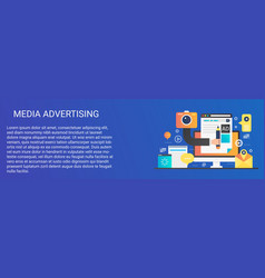 modern flat gradient media advertising vector image