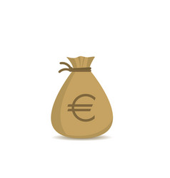 money bag with euro sign vector image