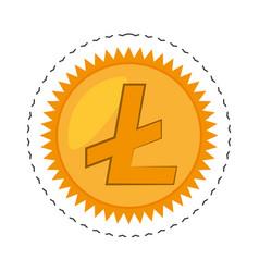 Money litecoin golden commerce vector