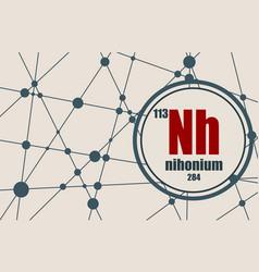 Nihonium chemical element vector