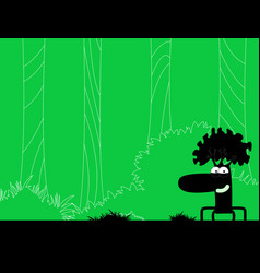 On forest theme vector
