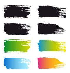 Paint brush stroke frames set vector