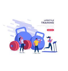 Recreation activity gym banner vector