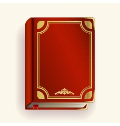 Red leather book vector