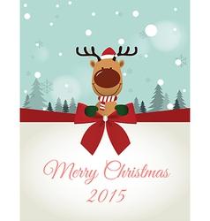 Reindeer holding Board vector