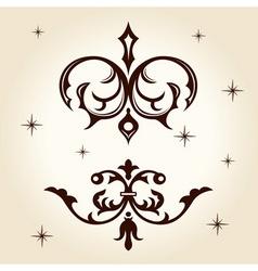 retro ornament calligraph vector image